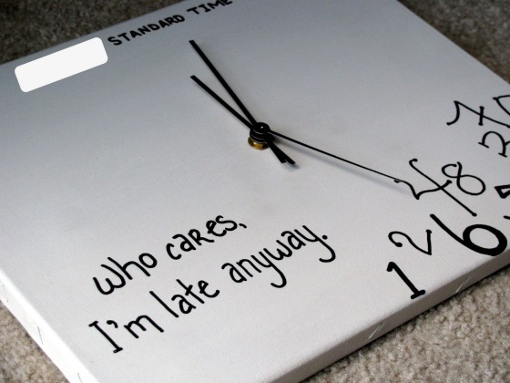 DIY Canvas Clock 3